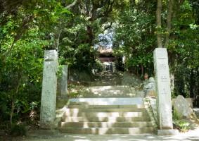 西明寺の石段