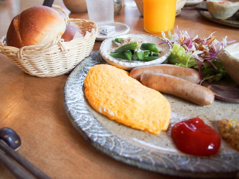 益子時計での朝食